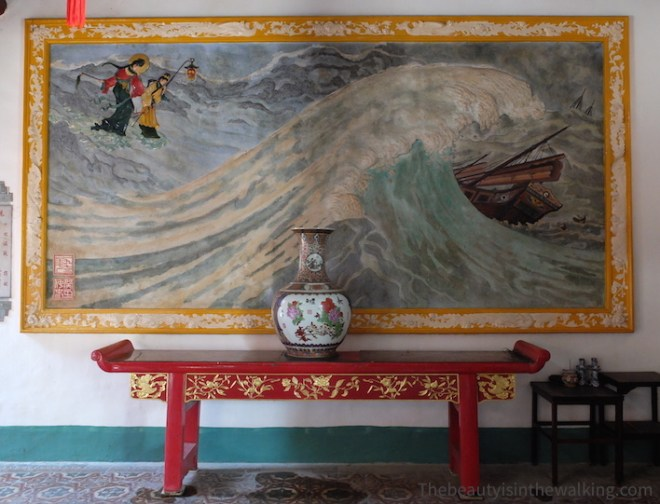 Painting in the Phuc Kien Temple in Hoi an