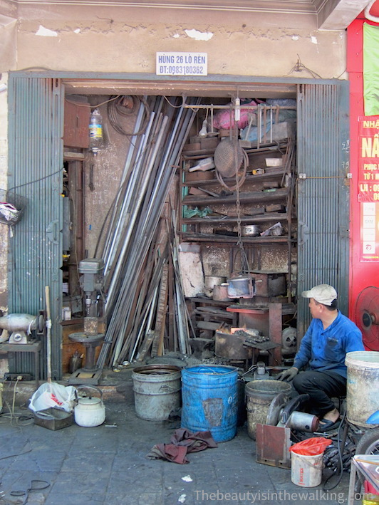 Blacksmith in the Old Quarter, Hanoi