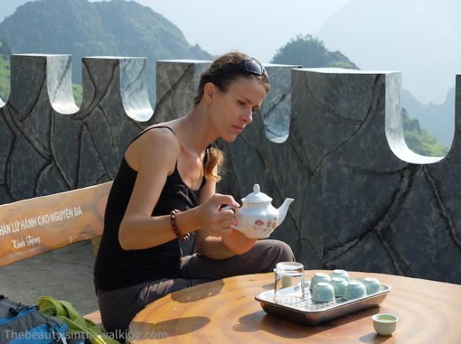 Snow tea au soleil