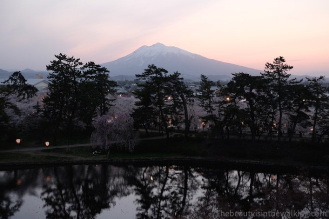 Sunset over Mount Iwaki