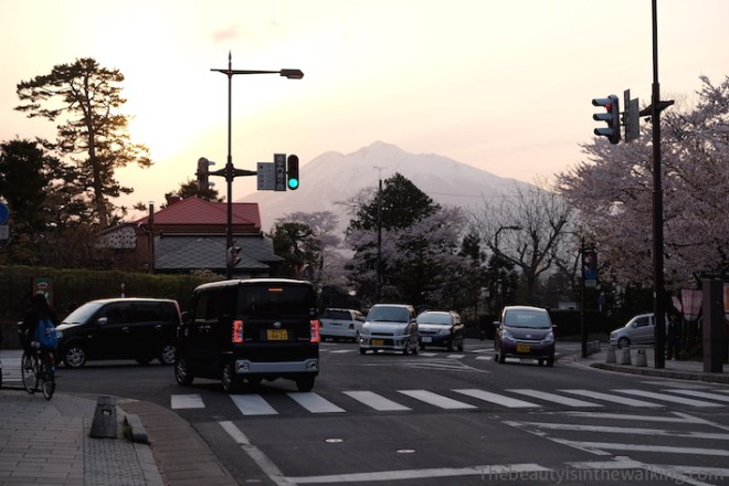 Mount Iwaki at sunset