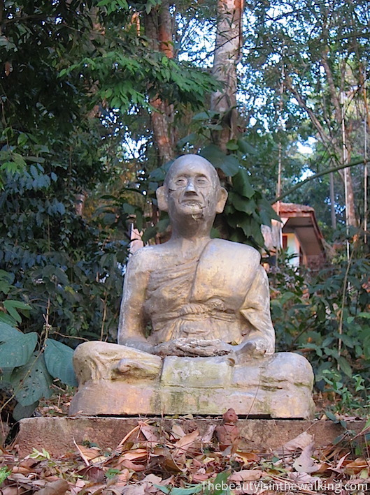 Statue of a meditating monk