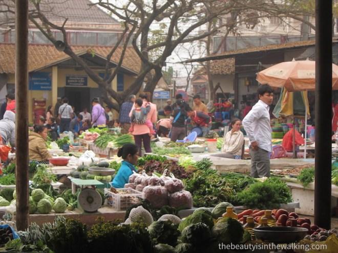 Marché de Luang Namtha, Laos