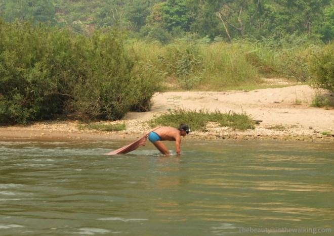 Pêcheur laotien - Nong Kiaew, Laos