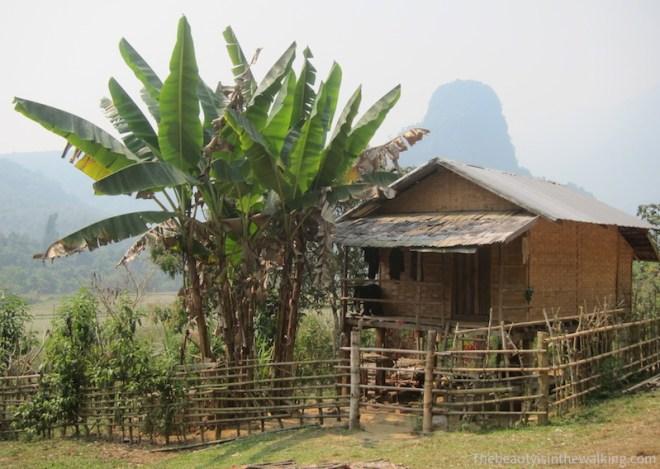 Maison en bambou, Muang Ngoi, Laos