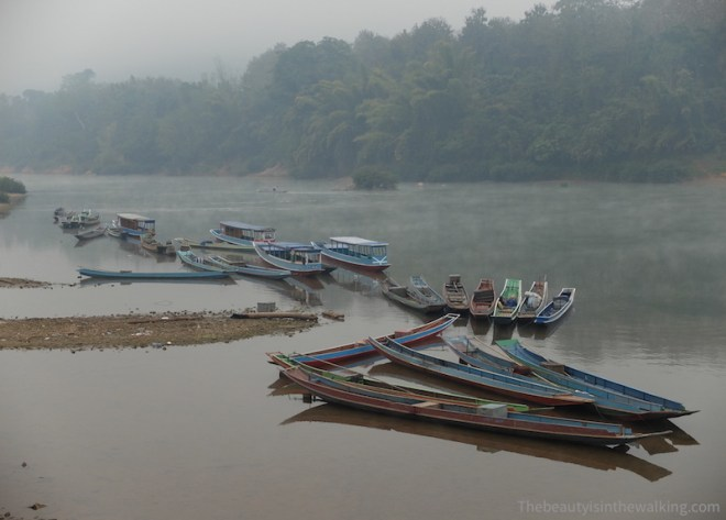 Long boats, Muang Ngoi, Laos