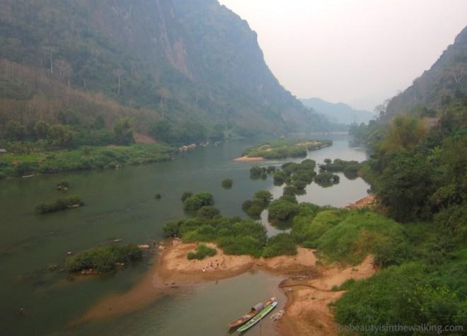 Rivière Nam Ou, près de Nong Kiaew, Laos