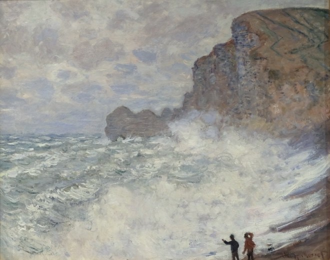 Mauvais temps en Étretat, 1883, National Gallery of Victoria