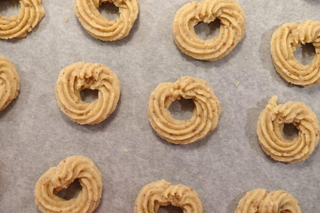 Vaniljekranse, biscuits de Noël danois
