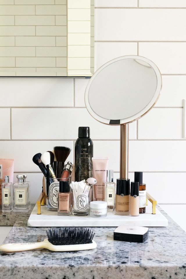Marble Tray Simplehuman Sensor Rosegold 1440x2159 - Best Decorative Trays for Your Vanity + Beauty Products