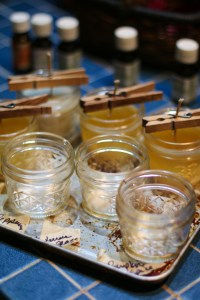 Prepared mason jars ready to fill for beeswax for candles