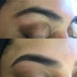 shaped eyebrows