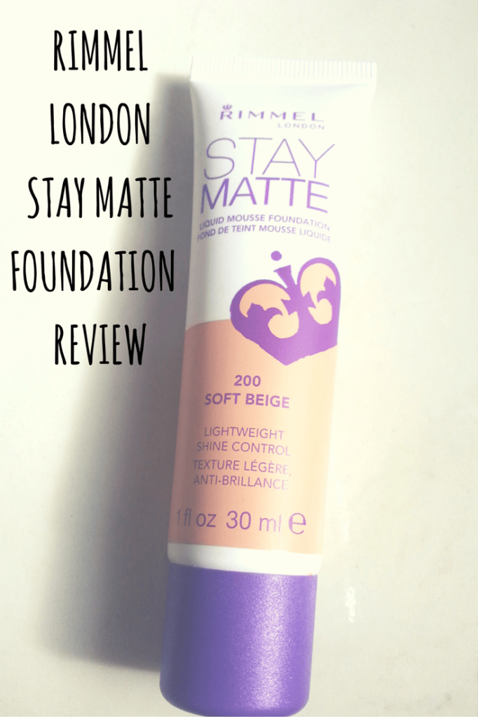 Product Review: Rimmel London Stay Matte Liquid Mousse Foundation