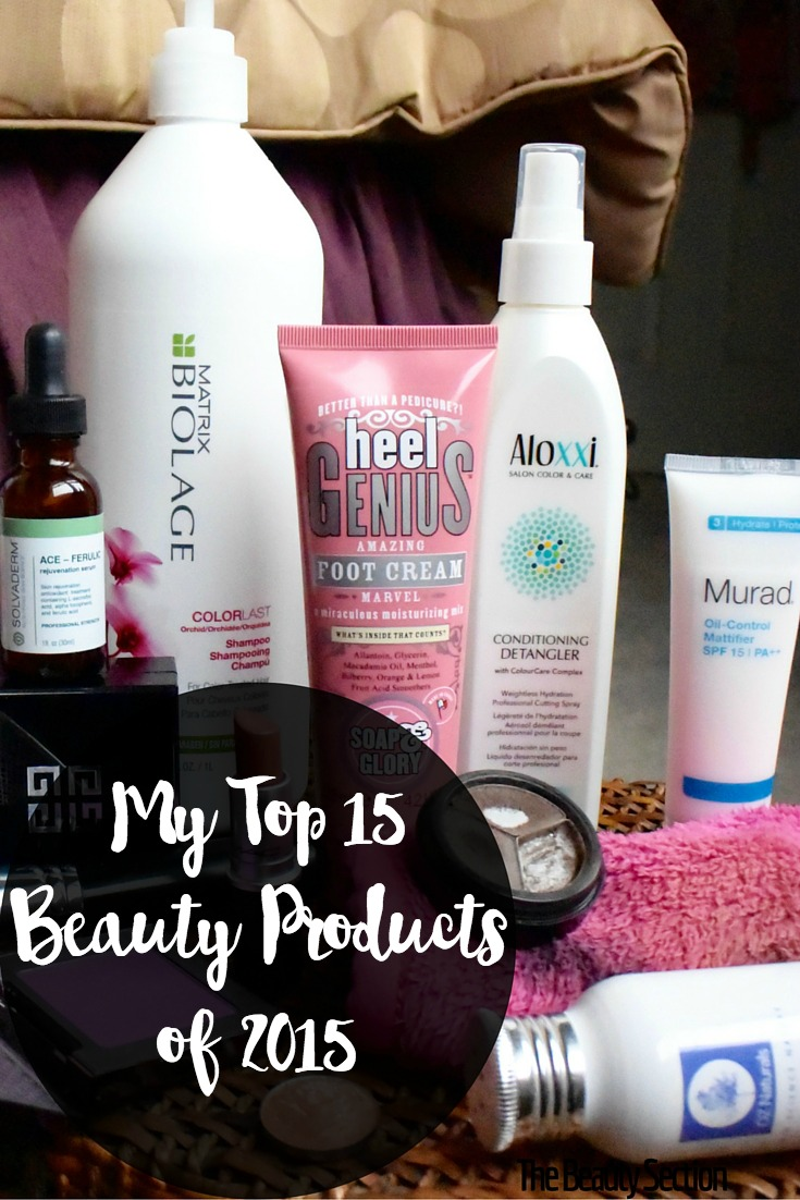 My Top 15 Beauty Products of 2015