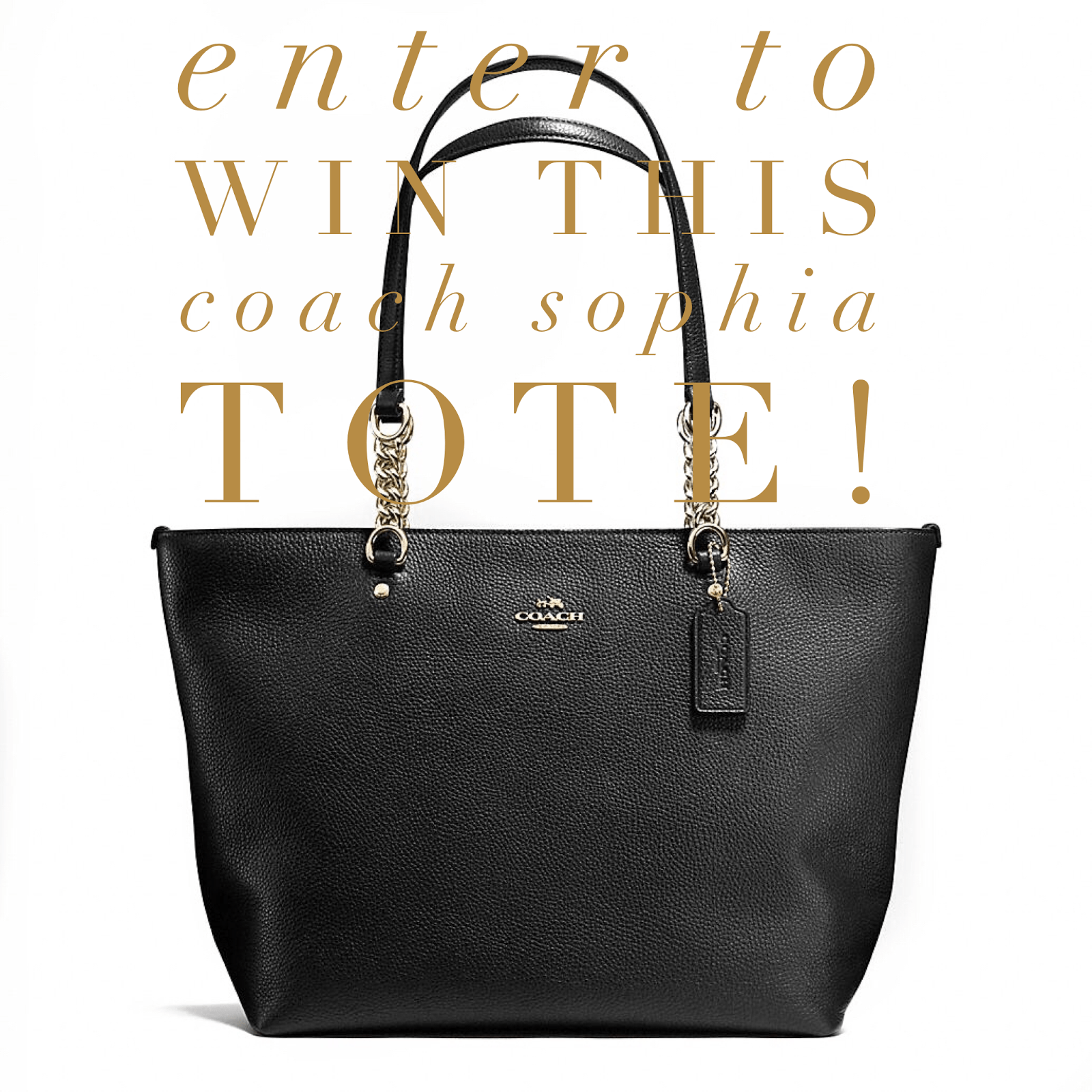 Coach Sophia Tote Giveaway!