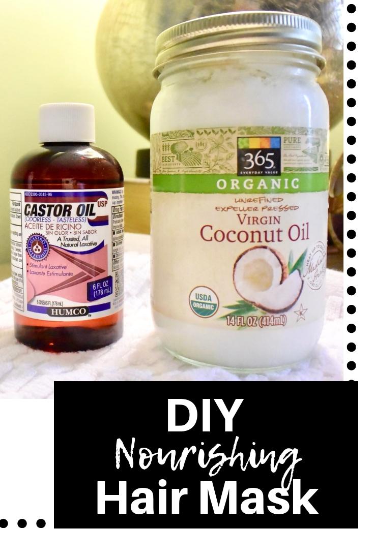 DIY Nourishing Hair Mask | Coconut Oil + Castor Oil
