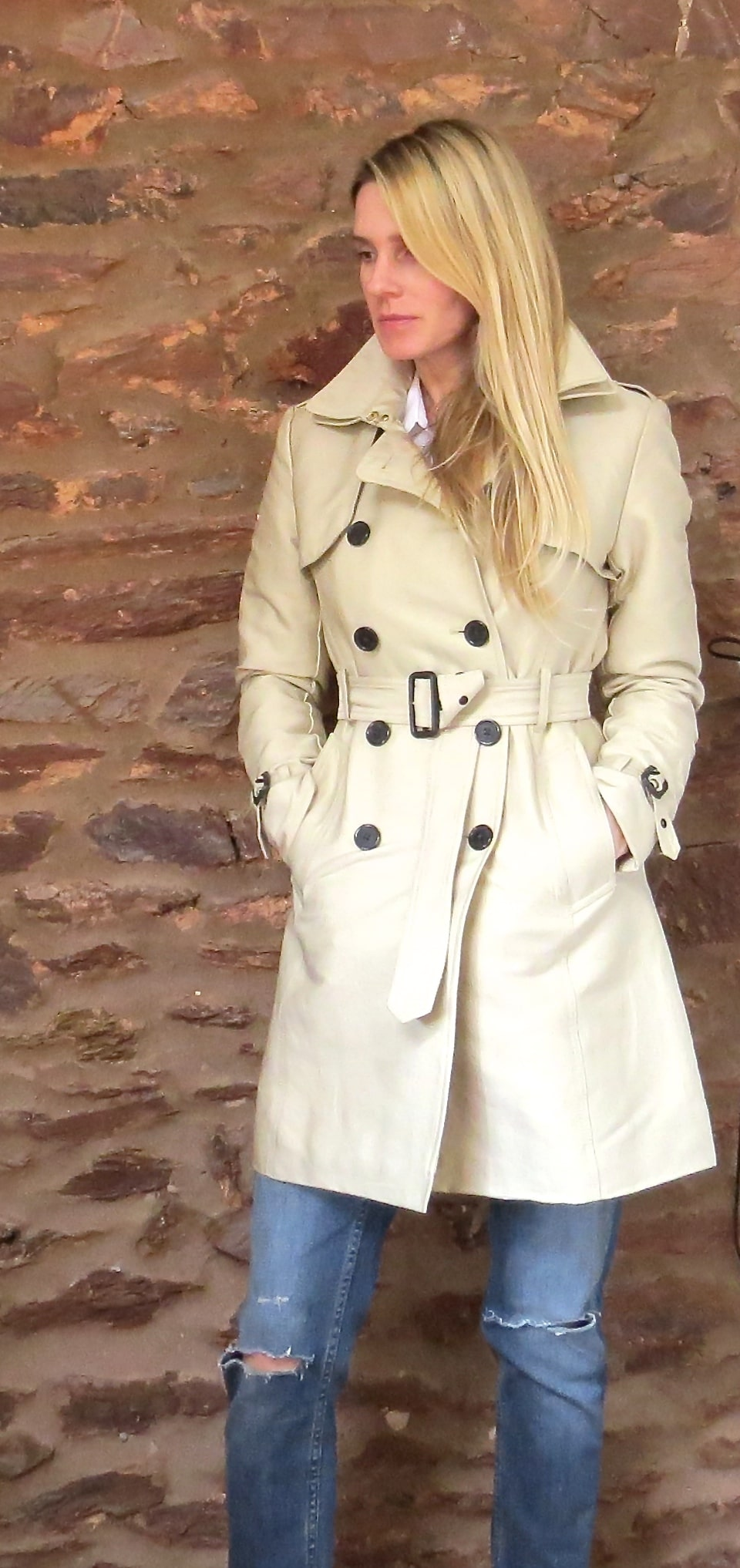 sam wearing the trench coat. what I'm wearing.