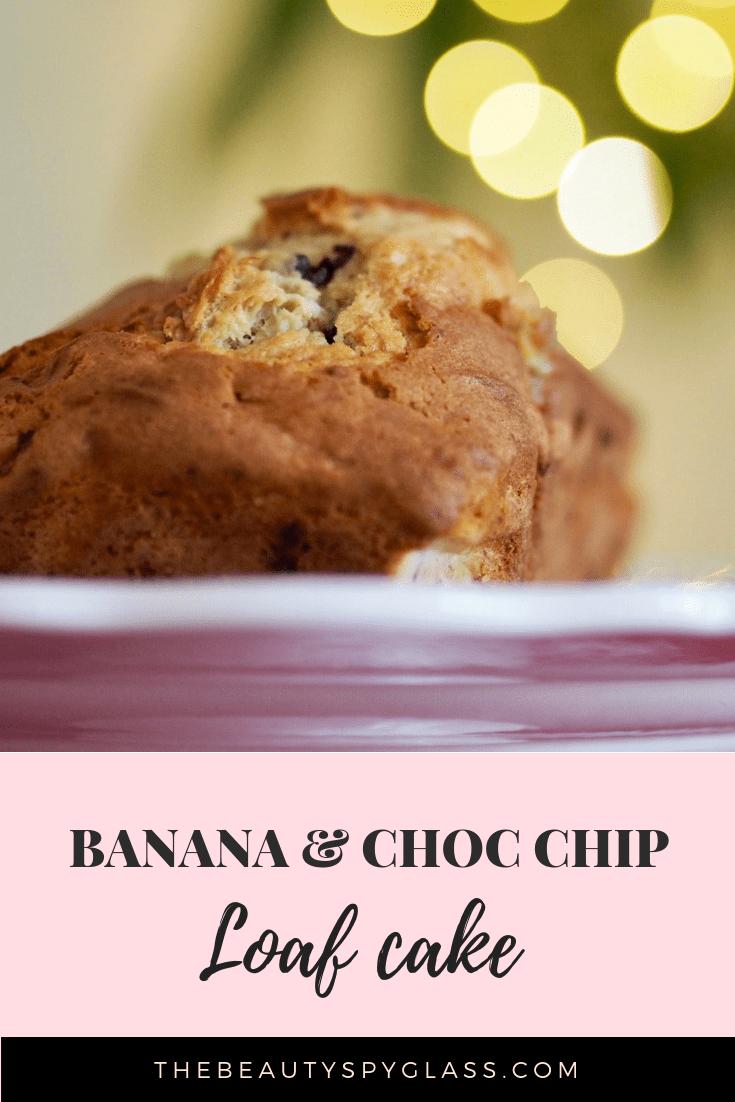 Baking banana and choc chip loaf cake