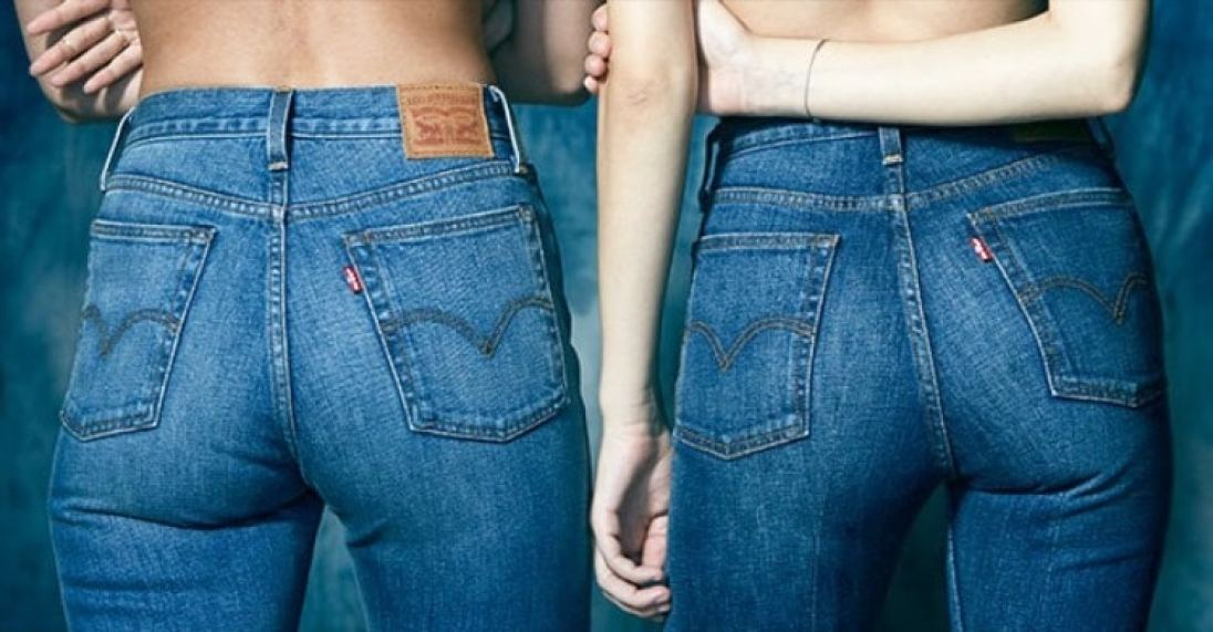 Levi's wedgie jeans two models