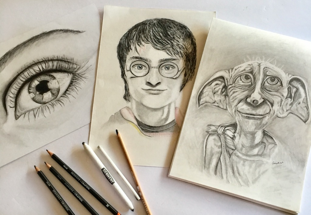 Samantha's pencil drawings