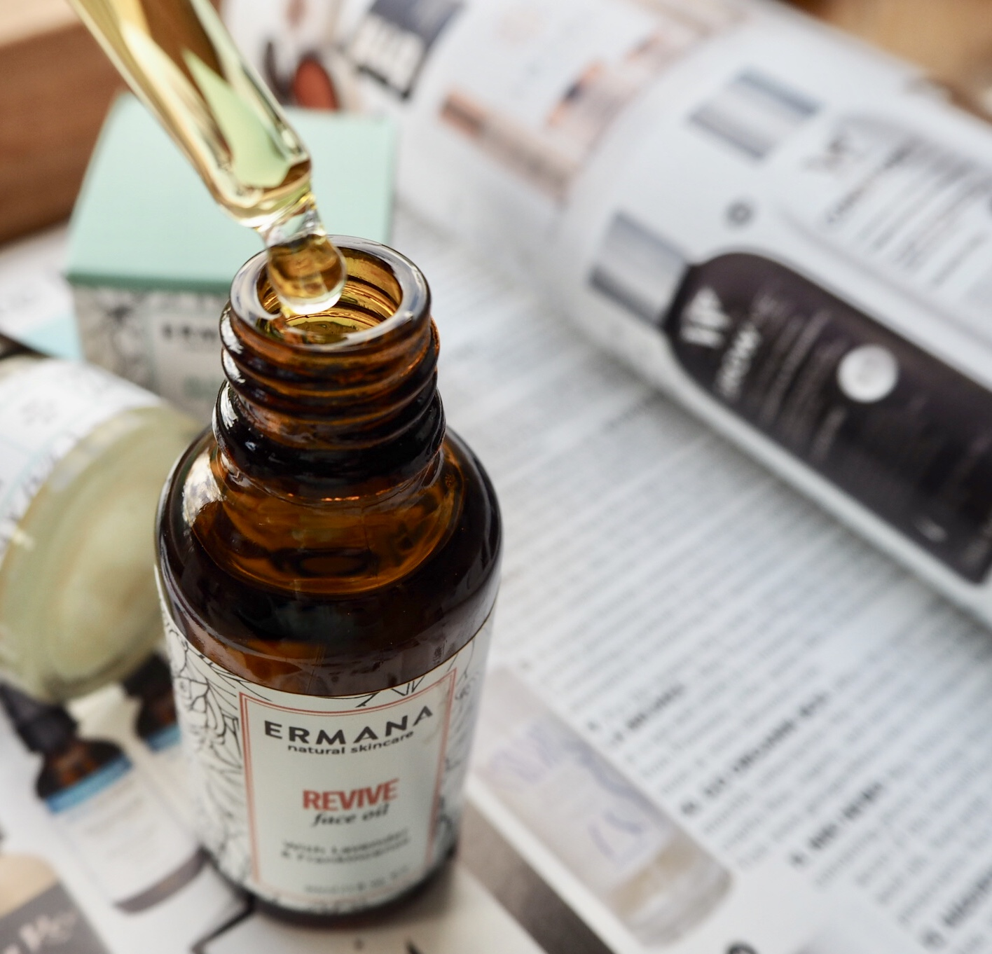 Ethical beauty. Ermana revive facial oil