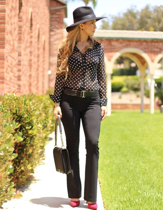 POLKA DOTS & BASIC TROUSERS