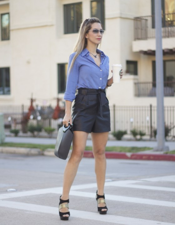 STYLING LEATHER BERMUDAS