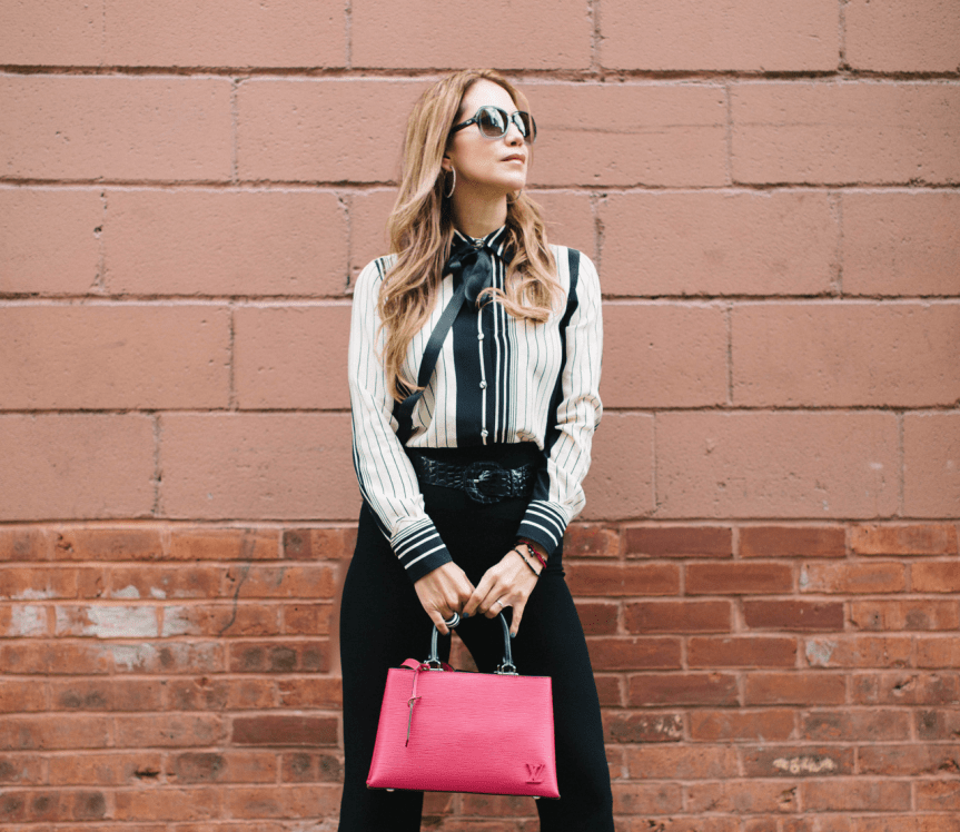 woman wearing timeless fashion pieces