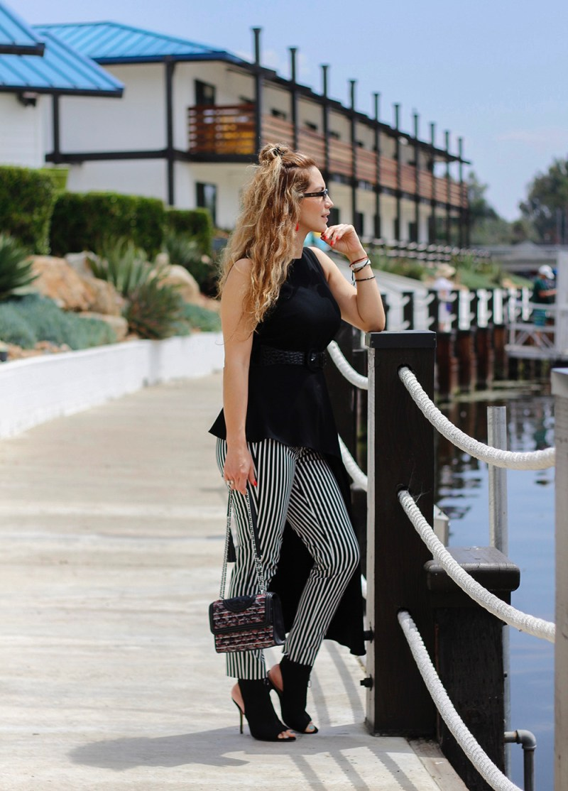 black and white clothing