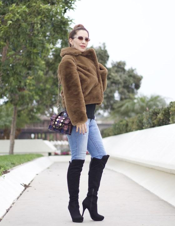 2 Ways To Wear A Faux Fur Coat