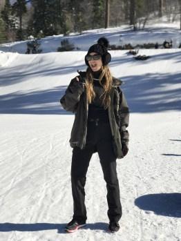 woman wearing a ski attire