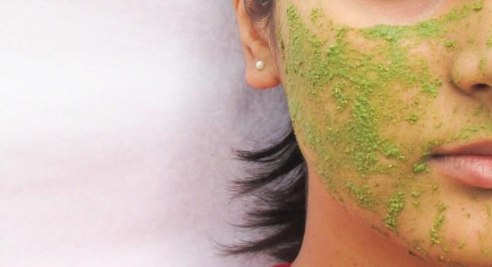 Skin Yoga Green Tea Face Mask Application
