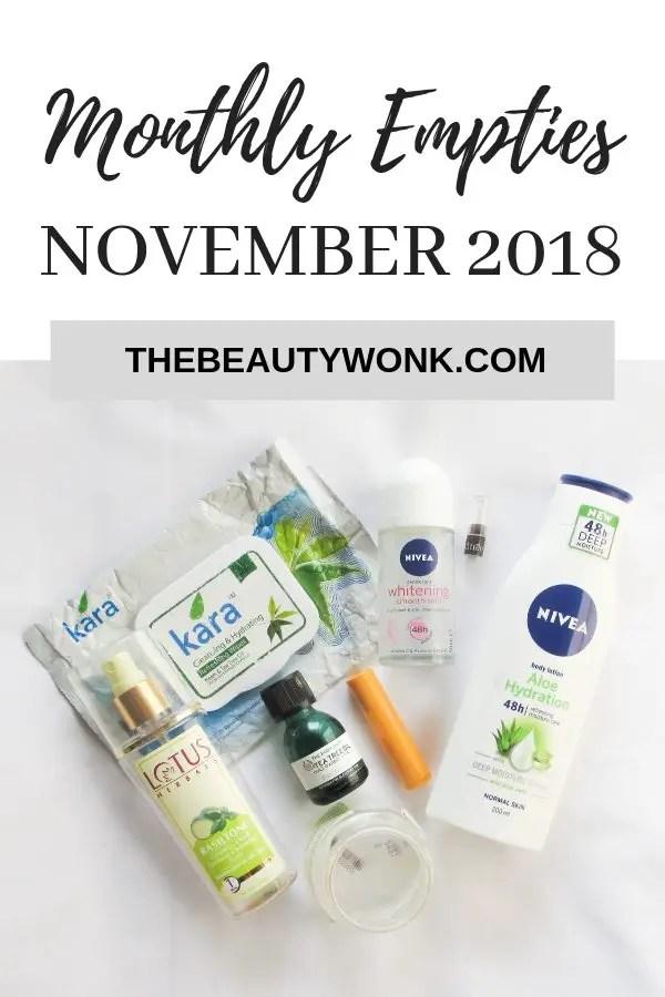 Empties November 2018