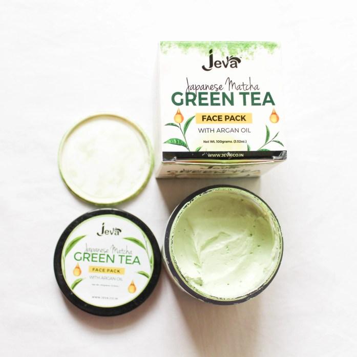 Jeva Matcha Green Tea Face Pack