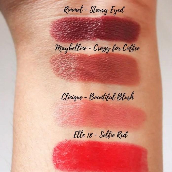 Project Pan & Declutter Lipsticks Swatches