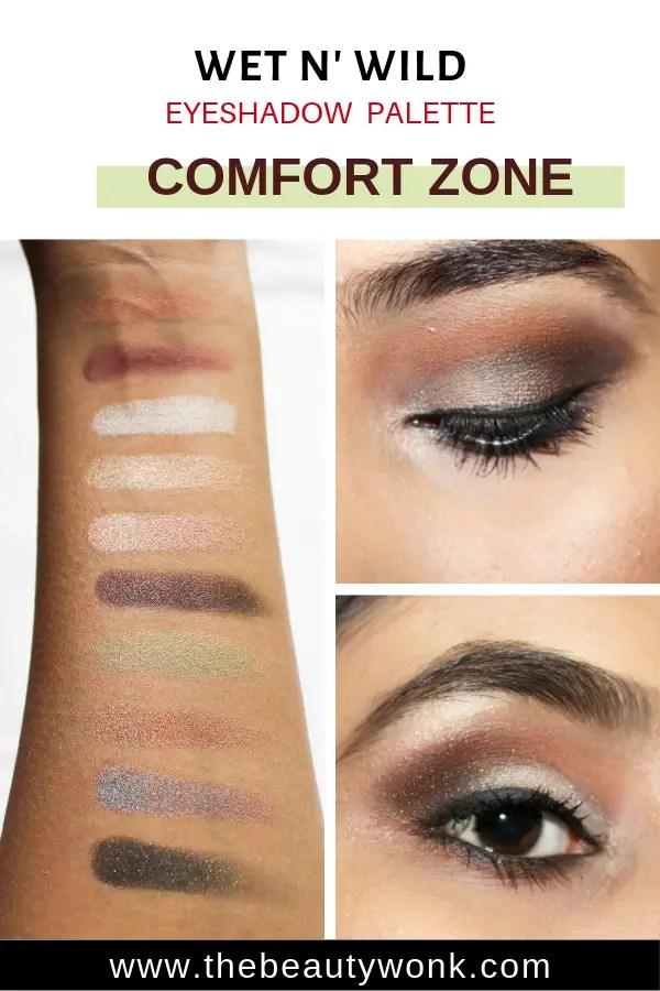 Review of Wet N Wild Comfort Zone Eyeshadow Palette Tutorial