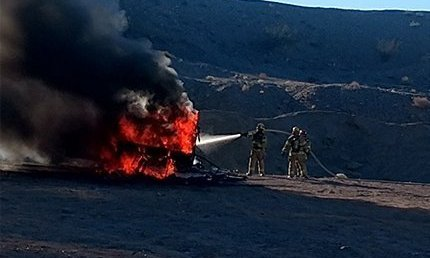 Motorhome Goes Up In Flames