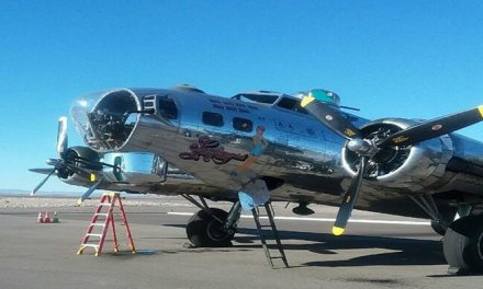 WWII Bomber Soars Through Colorado River Skies