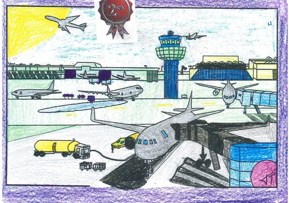 4th Grade students aviation coloring contest