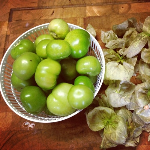 Once I learned what tomatillos were I grew to love them. Not scary at all!