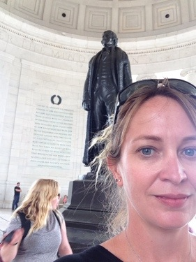 I love the Jefferson Memorial. He was such a powerful thinker.