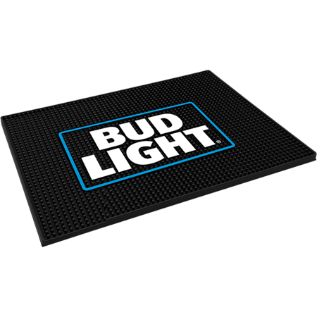 Bud Light Square Bar Mat The Beer Gear Store