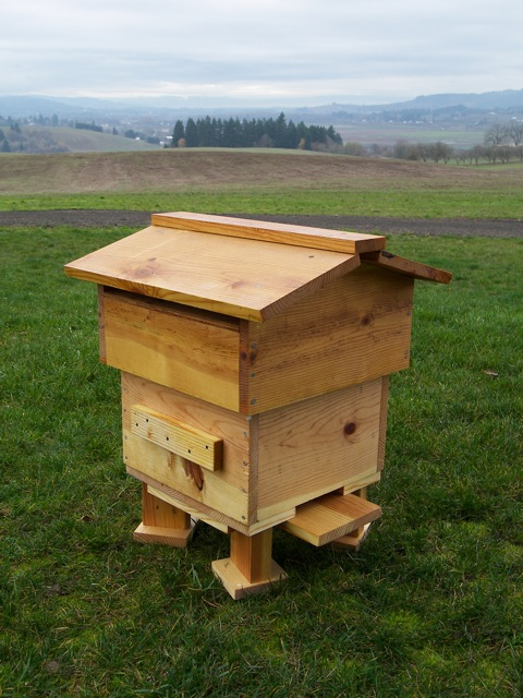 Completed Warre Hive Ready for Honeybees