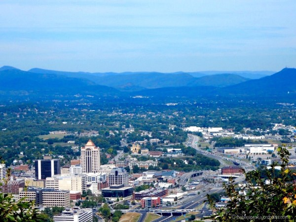 View of Downtown Roanoke from Mill Mountain