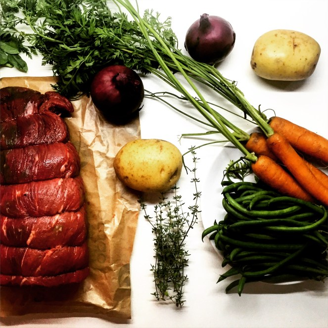 Red Wine Braised Shredded Beef with Roasted Potatoes & Carrots - The Beginner's Cookbook recipe