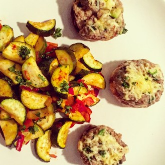 Stuffed Mushrooms and Baked Courgettes - The Beginner's Cookbook Recipe