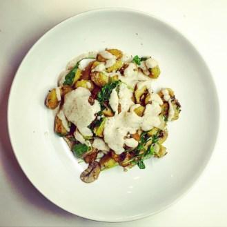 Gnocchi with Mushrooms & Walnut Pesto - The Beginner's Cookbook Recipe