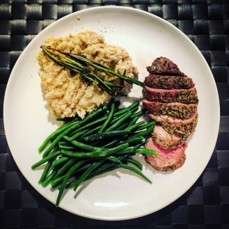 Pork Filet Mignon with White Bean Mash: The Beginner's Cookbook recipe