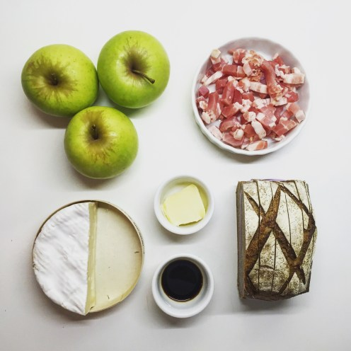 Apple, Camembert Cheese & Bacon Tartines - The Beginner's Cookbook Recipe