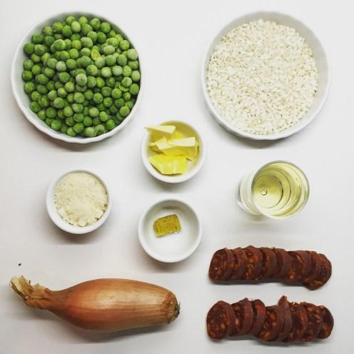 Chorizo & Green Pea Risotto - The Beginner's Cookbook Recipe
